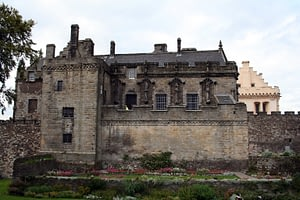 Stirling Castle overlooking the gardens