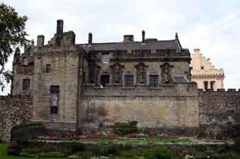 Stirling Casltle overlooking the gardens