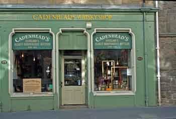 Cadenhead whisky shop