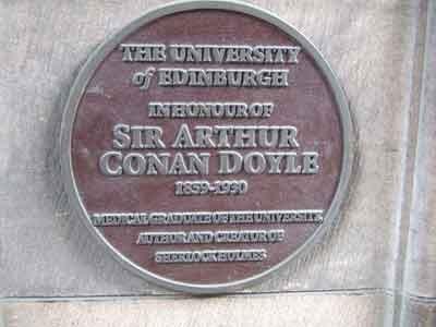 Conan Doyle memorial at University of Edinburgh